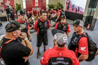 #15 Monster Energy Honda Team Honda: Ricky Brabec, #10 Monster Energy Honda Team Honda: José Ignacio Cornejo Florimo