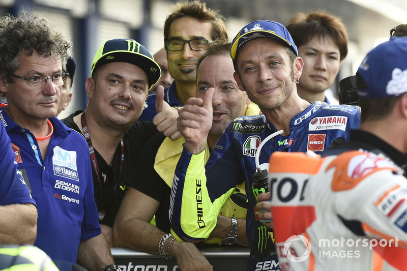 Valentino Rossi, Yamaha Factory Racing second place qualifying
