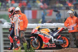 Marc Marquez, Repsol Honda Team après sa chute