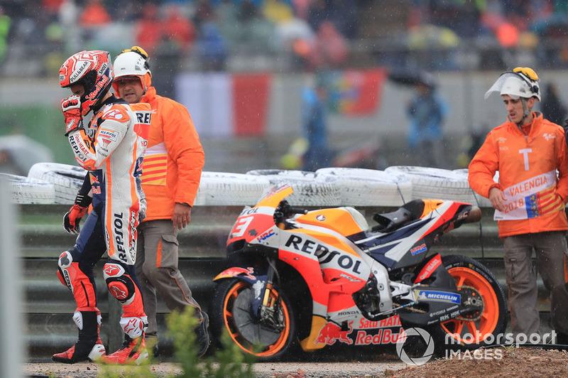 Marc Marquez, Repsol Honda Team, dopo la caduta