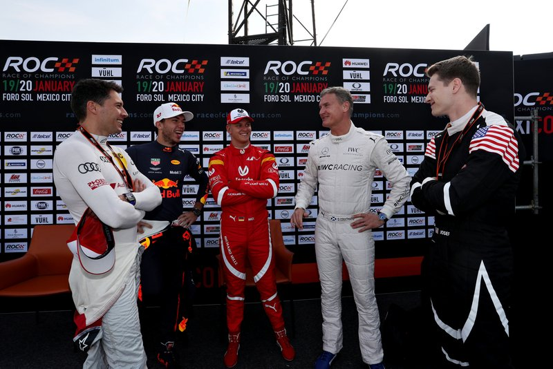 Loic Duval, Pierre Gasly, Mick Schumacher, David Coulthard and Josef