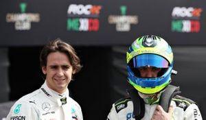 Esteban Gutierrez and Benito Guerra prepare to drive during previews