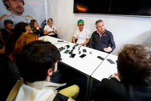 New McLaren test and development driver Sergio Sette Camara is presented to the media, by Gil de Ferran, Sporting Director, McLaren