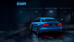 Рендер автомобиля Lynk & Co TCR by Cyan Racing