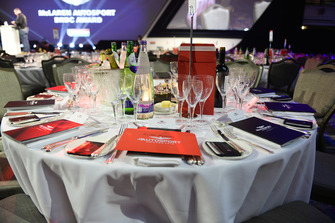 Table setting for Allan McNish
