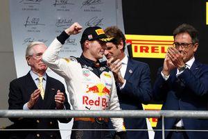 Podio: segundo lugar Max Verstappen, Red Bull Racing