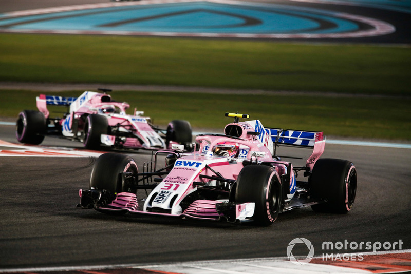 Esteban Ocon e Sergio Pérez, Racing Point Force India VJM11 - 2018