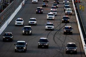 Police Tribute Laps Pre Race
