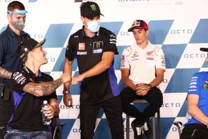 Fabio Quartararo, Yamaha Factory Racing, Franco Morbidelli, Yamaha Factory Racing, Marc Marquez, Repsol Honda Team
