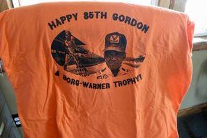 Gordon Johncock's 85th birthday t-shirt