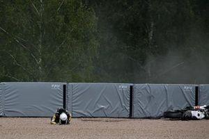 Crash Alessandro Delbianco, MIE Racing Honda Racing