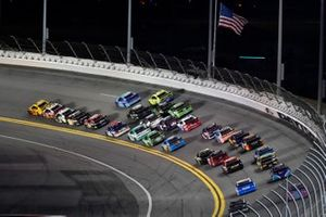 Joey Logano, Team Penske, Ford Mustang Shell Pennzoil, Ryan Blaney, Team Penske, Ford Mustang BodyArmor, Aric Almirola, Stewart-Haas Racing, Ford Mustang Smithfield