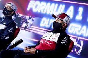 Kimi Raikkonen, Alfa Romeo Racing en Pierre Gasly, AlphaTauri in de persconferentie