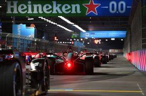 Sam Bird, Jaguar Racing, Jaguar I-TYPE 5, waits for the lights to go out