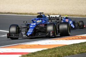 Fernando Alonso, Alpine A521, Esteban Ocon, Alpine A521