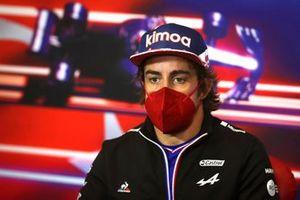 Fernando Alonso, Alpine F1 at the press conference
