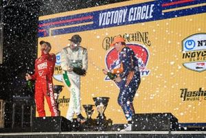 Marcus Ericsson, Chip Ganassi Racing Honda, James Hinchcliffe, Andretti Steinbrenner Autosport Honda, Scott Dixon, Chip Ganassi Racing Honda