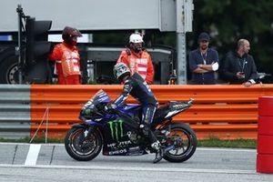 Maverick Vinales, Yamaha Factory Racing restart from the pitlane