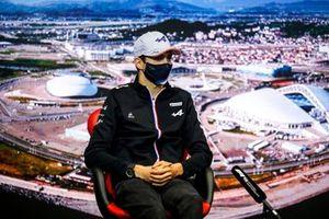 Esteban Ocon, Alpine F1 en conférence de presse