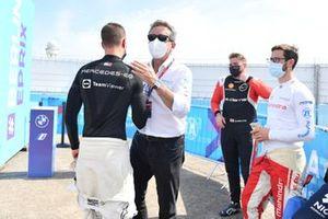 Le poleman Stoffel Vandoorne, Mercedes-Benz EQ, Alejandro Agag, Président Formula E