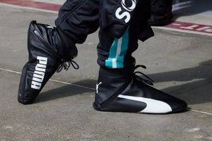 The boots of Lewis Hamilton, Mercedes