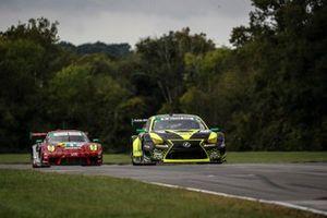 #14: Vasser Sullivan Lexus RC F GT3, GTD: Jack Hawksworth , Aaron Telitz, #9: Pfaff Motorsports Porsche 911 GT3R, GTD: Zacharie Robichon, Laurens Vanthoor