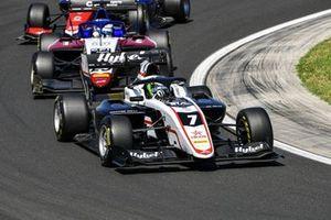 Frederik Vesti, ART Grand Prix, leads Logan Sargeant, Charouz Racing System
