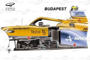 McLaren MCL35M new bargeboard: Budapest