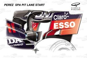 Red Bull Racing RB16B, rear wing Perez
