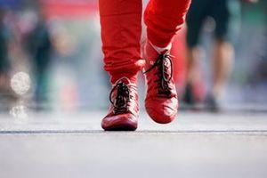 The boots of Charles Leclerc, Ferrari