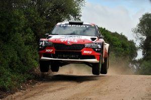 Paolo Andreucci, Rudy Briani, Team MRF Tyres, Skoda Fabia Rally2 Evo