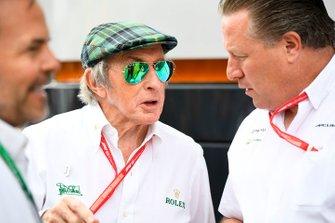 Sir Jackie Stewart, triple Champion du monde, et Zak Brown, directeur exécutif, McLaren