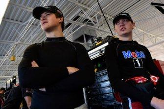 Harrison Burton, Kyle Busch Motorsports, Toyota Tundra Safelite AutoGlass and Christian Eckes, Kyle Busch Motorsports, Toyota Tundra SiriusXM