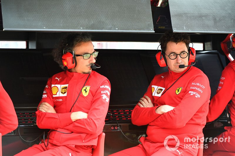 Laurent Mekies, Sporting Director, Ferrari, Mattia Binotto, Team Principal Ferrari
