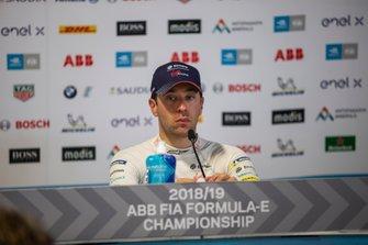 Race winner Robin Frijns, Envision Virgin Racing in the press conference