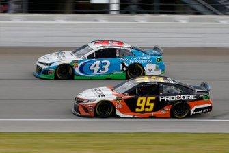 Matt DiBenedetto, Leavine Family Racing, Toyota Camry Procore Darrell Wallace Jr., Richard Petty Motorsports, Chevrolet Camaro Victory Junction