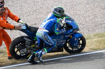 Enea Bastianini, Italtrans Racing Team after his crash