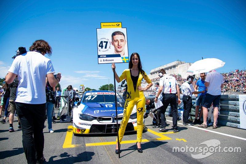 Grid girl, Joel Eriksson, BMW Team RBM, BMW M4 DTM