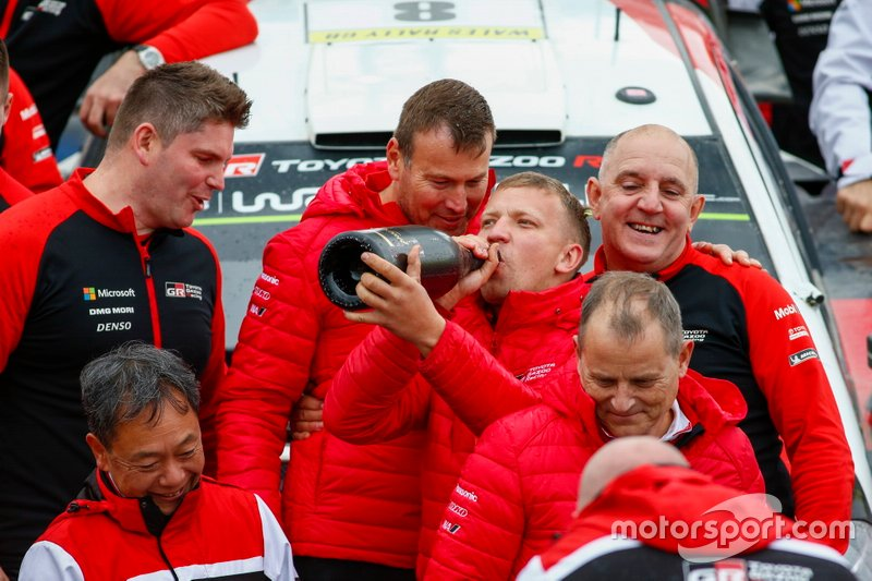 Team di Ott Tänak, Martin Järveoja, Toyota Gazoo Racing WRT Toyota Yaris WRC