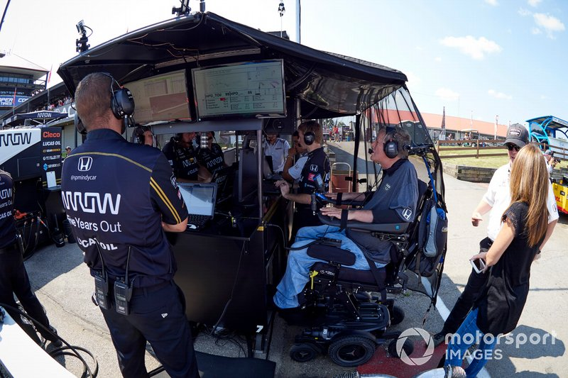 James Hinchcliffe, Arrow Schmidt Peterson Motorsports Honda, Sam Schmidt, crew
