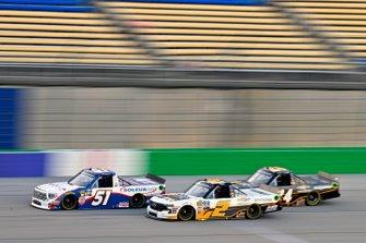Brandon Jones, Kyle Busch Motorsports, Toyota Tundra SoleusAir/Menards and Sheldon Creed, GMS Racing, Chevrolet Silverado Chevrolet Accessories