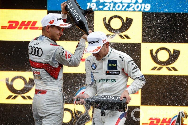 Podio: Marco Wittmann, ganador de la carrera, BMW Team RMG, Nico Müller, Audi Sport Team Abt Sportsline