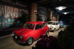 Minis in a recreation of the filming of The Italian Job