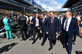 Dmitry Kozak, Deputy Prime Minister of Russian Federation, on the grid with other dignitaries