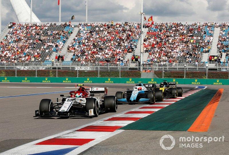 Antonio Giovinazzi, Robert Kubica, Daniel Ricciardo (wyścig)