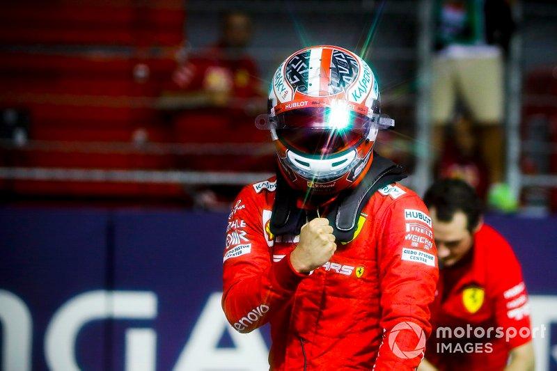 Il poleman Charles Leclerc, Ferrari