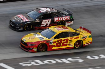 Joey Logano, Team Penske, Ford Mustang Shell Pennzoil, JJ Yeley, Rick Ware, Ford Mustang SLAYER