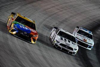 Kyle Busch, Joe Gibbs Racing, Toyota Camry M&M's, Brad Keselowski, Team Penske, Ford Mustang Miller Lite