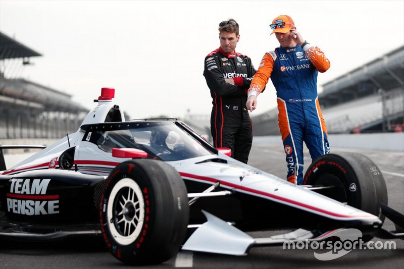 Aeroscreen-Test: Will Power, Team Penske Chevrolet, Scott Dixon, Chip Ganassi Racing Honda