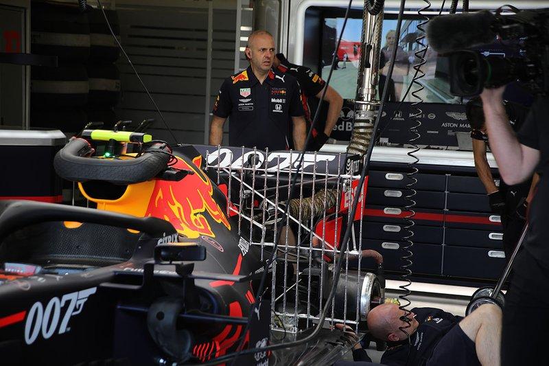 Capteurs à l'arrière de la Red Bull Racing RB15